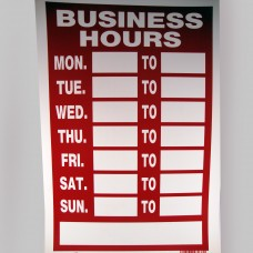 Business Hours Sign (8